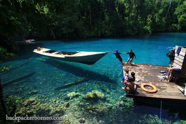 Labuan Cermin Lake, Berau, East Kalimantan, Indonesia.