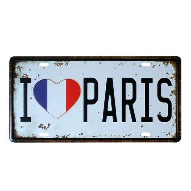 Famous Cities Car Plates