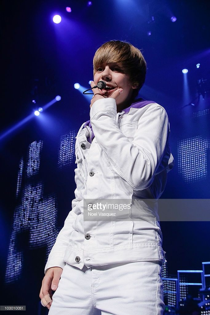 Justin Bieber performs at his 'My World Tour' at Nokia Live on July 20, 2010 in Los Angeles, California.