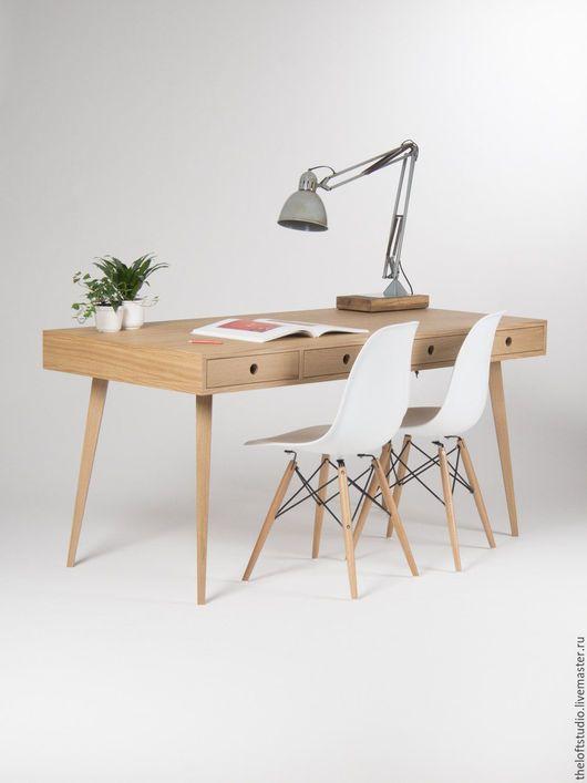 Мебель ручной работы. Ярмарка Мастеров - ручная работа. Купить Письменный стол из массива дуба. Handmade. Лофт, стол из дерева