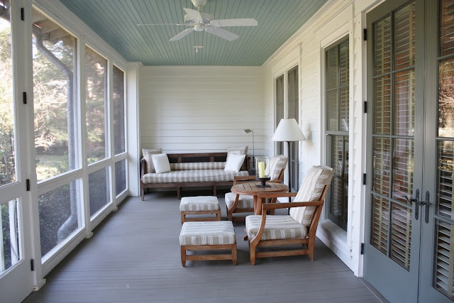 Screened In Porch Porch Pinterest Ceiling Color