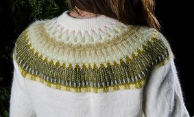 Elm Leaf Knitting Pattern : Ravelry: Bohus Yellow or Rose Lace Collar pattern by Karin Ivarsson hand kn...