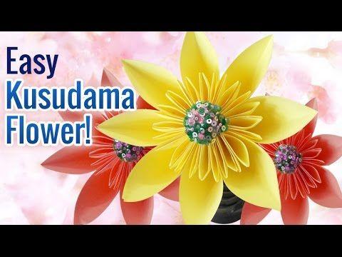 How to Make Beautiful & Super Easy DIY Paper Flowers | Kusudama Flower |...