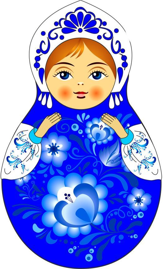 Matryoshka – Russian nesting doll. Vector clip art.