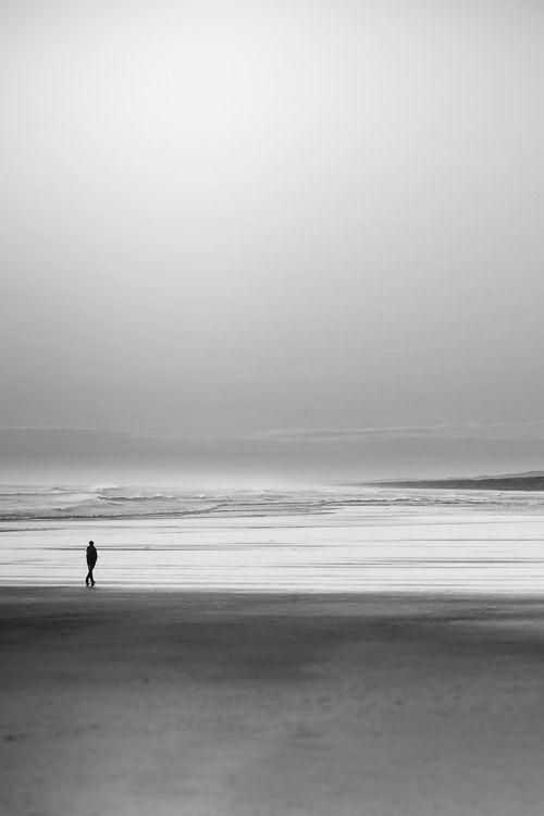 Solitude at the beach in black  white | beach, ocean  sea . Strand  Meer . plages  mer | Inspiration @ Vesta |