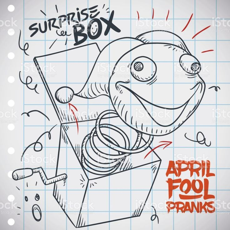 Sketch with Jack-in-the-box Prank for April Fools' Day