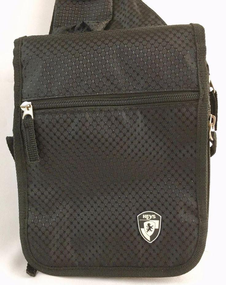Heys TravelMate V3 Crossbody Travel Bag Unisex Black Diamond Print Vacation #Heys #TravelBag