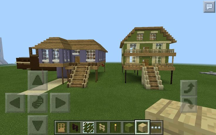 Minecraft beach houses. I think a white one would be really pretty.