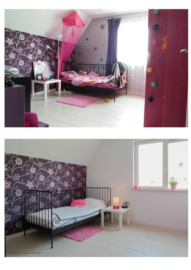 Voor en na verkoopstyling meisjes slaapkamer Meteren