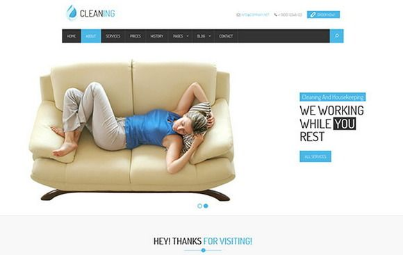 Check out Cleaner Service and Housekeeping by bootstrapbrothers on Creative Market