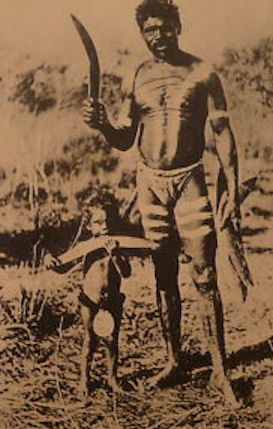 Aboriginal father and son