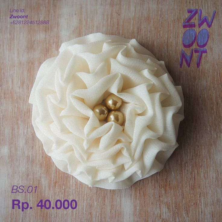 Whitey Brooch from @Zwoont Indonesian Local Brand.