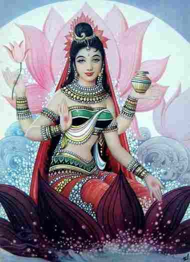 Lakshmi mantra is chanted when seeking wealth and abundance. The goddess Lakshmi is the Hindu deity representing wealth and prosperity.
