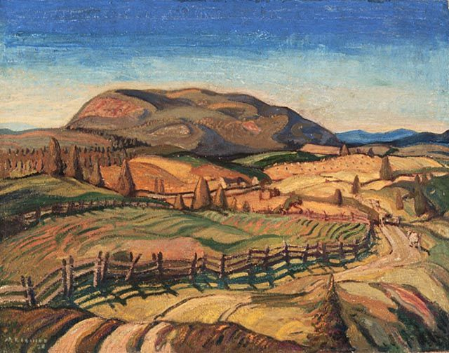 """""""Quebec Uplands,"""" Arthur Lismer, 1926, oil on canvas, 32.25 x 40.3"""", National Gallery of Canada."""