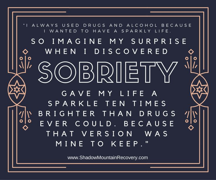 Sobriety is my priority