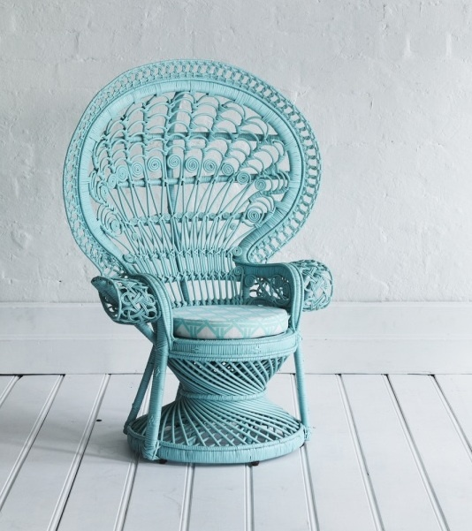 Mint peacock chair