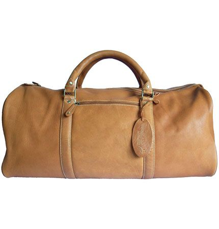 Woodland Leather Tan Leather Holdall/Travel Bag