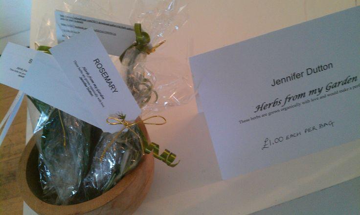 Herbs from Jenny's garden