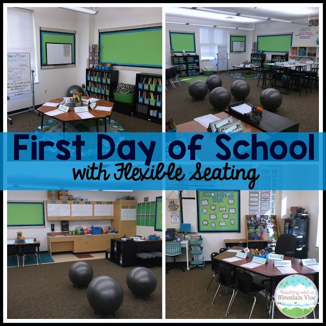 Teaching With a Mountain View: First Day of School with Flexible Seating!