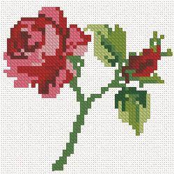 cross stitch rose design