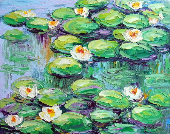 Monet Lily Pond Giverny France Water Garden Textured by NuFineArt5