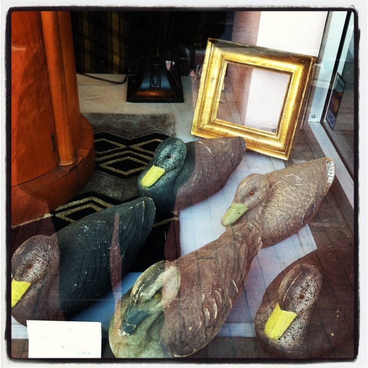 Duck decoys for sale at the local antiques store. For $10 a piece they are a steal!
