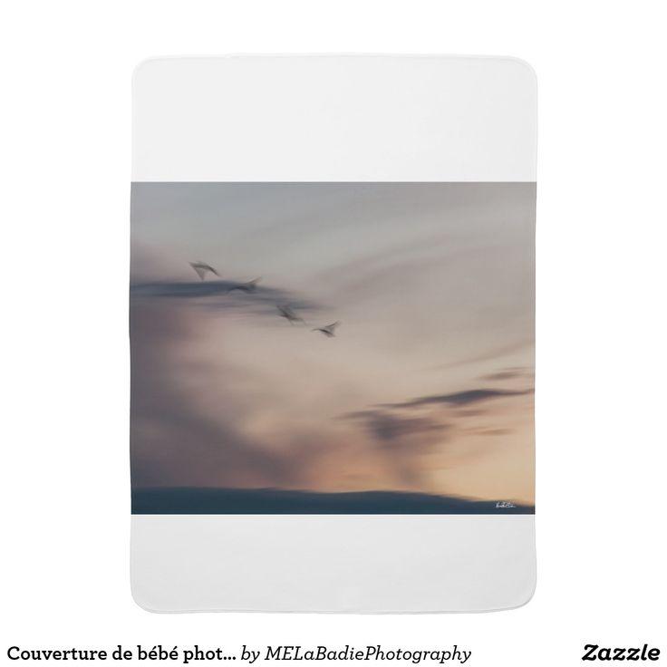 Couverture de bébé photo oiseaux abstraite