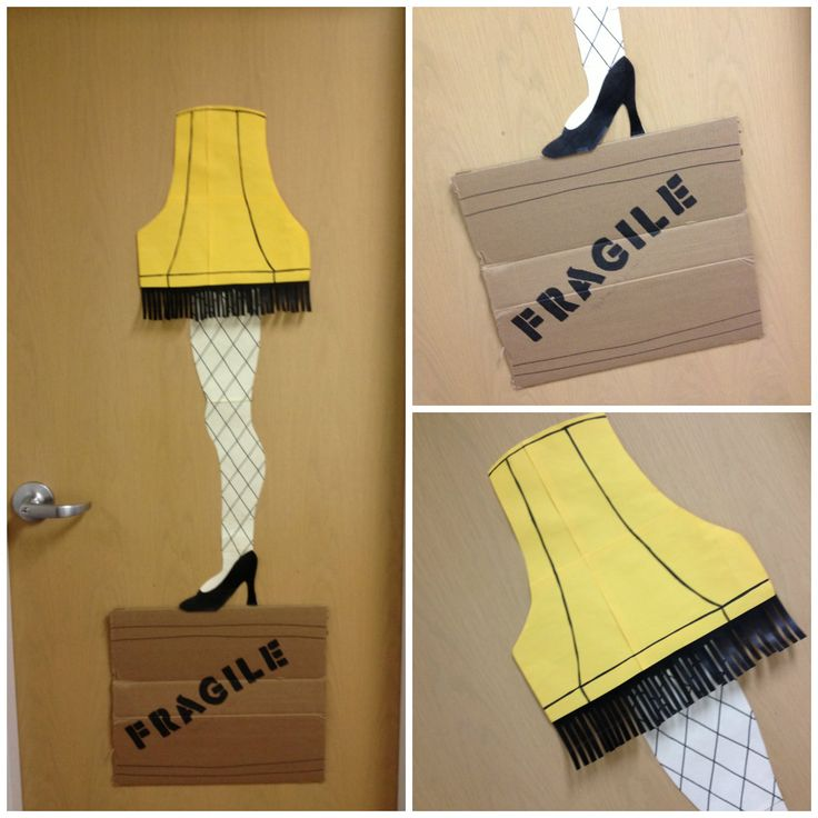 My entry for the door decorating contest at work - A Christmas Story