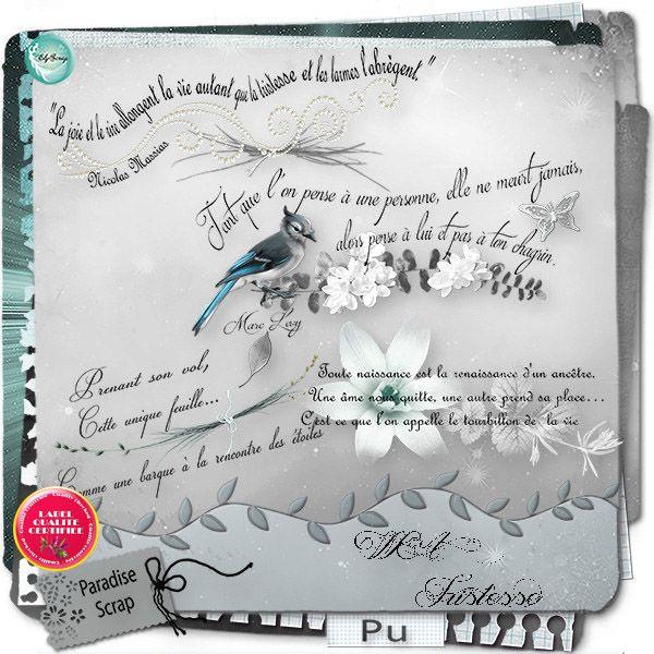 Tristesse ( Full Pack) By ElyScrap - Paradise Scrap