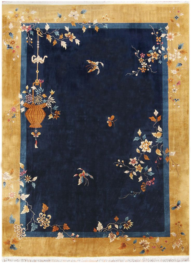 Room Sized Antique Chinese Carpet 48488