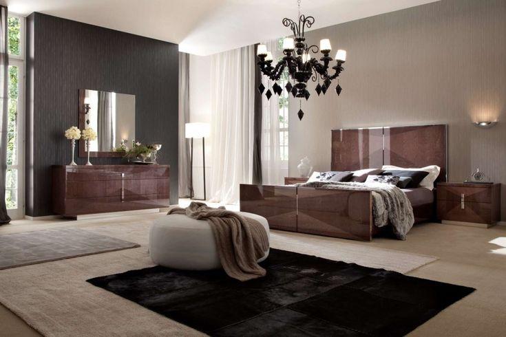 Expensive Glamour Italian Bedroom of White Color: Stunning Glamour Italian Bedroom Furniture Luxury Chandelier Black Carpet ~ hivenn.com Bedroom Designs Inspiration