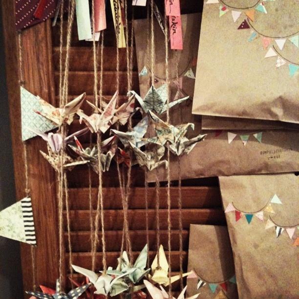 sweet #rumpelstiltskin bunting and paper cranes...