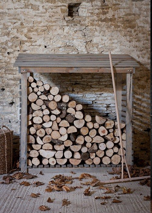Wooden Weatherproof Outdoors Log Store by Garden Trading