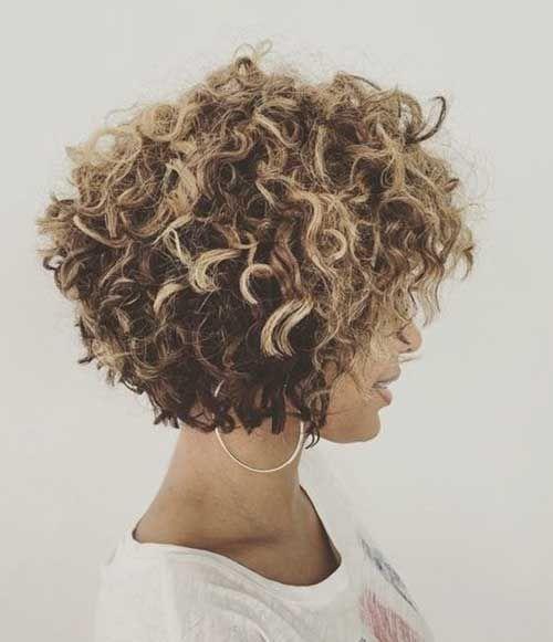Verschiedene lockige kurze Frisuren Bilder