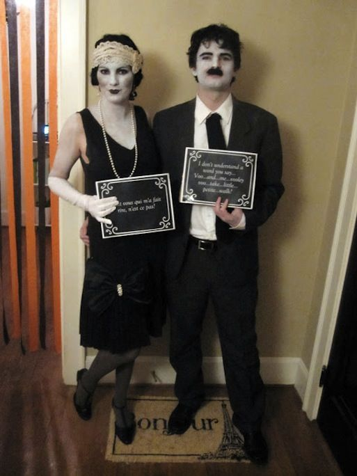 silent film stars halloween costume diy