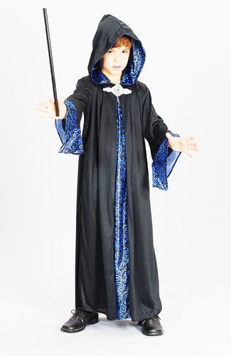 Childrens Wizard Robe Fancy Dress Harry Potter Gandalf Outfit