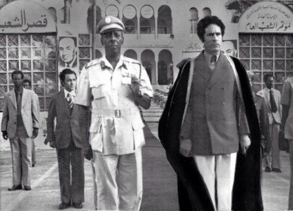 Tripoli, 1978: con il dittatore somalo Siad Barre.