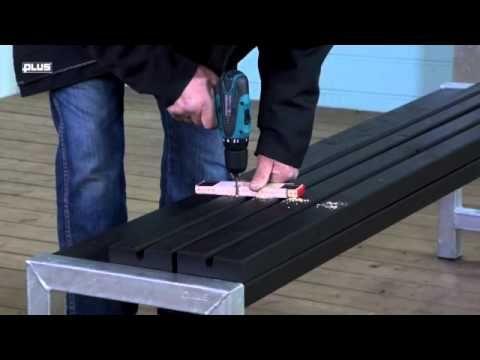 Plus Plankebænk med ryglæn 185550-1
