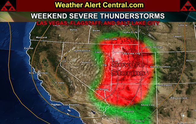 Severe Thunderstorms Target Parts Of Utah, Nevada, and ...