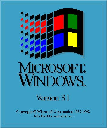 1990 - Introduction of Windows 3.0 by Microsoft. It is a multitasking system that maintains compatibility with MS-DOS, allowing several MS-DOS tasks to be run at once on an 80386 or above. This created a real threat to the Macintosh and despite a similar product, IBM's OS/2, it was very successful.