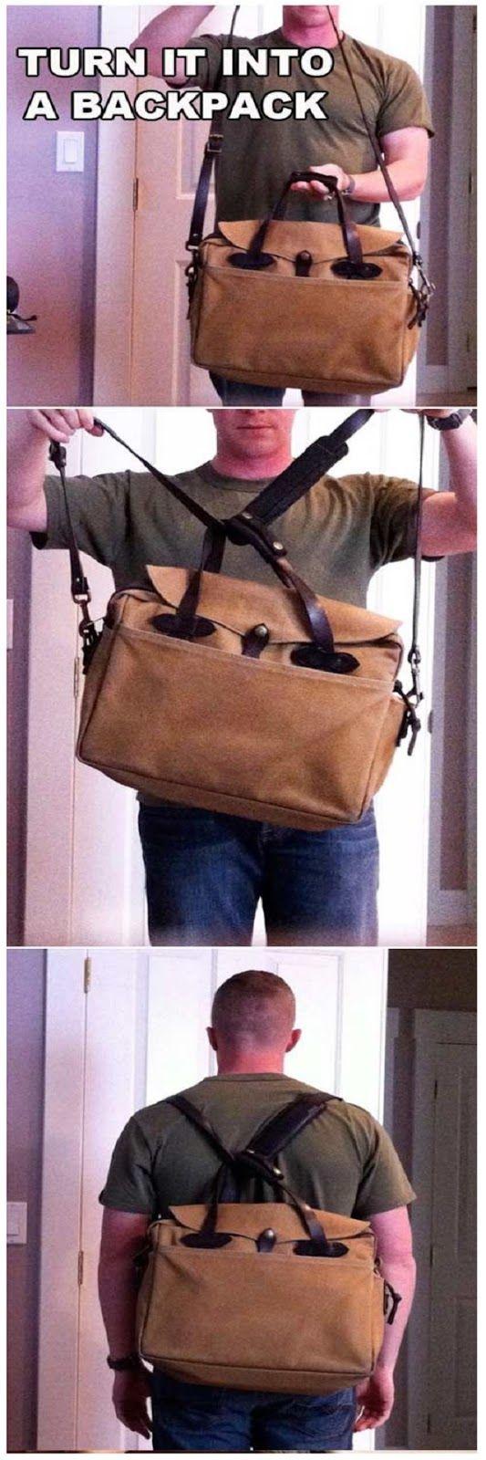 Diy laptop backpack - Diy Convert Shoulder Bag Into Backpack