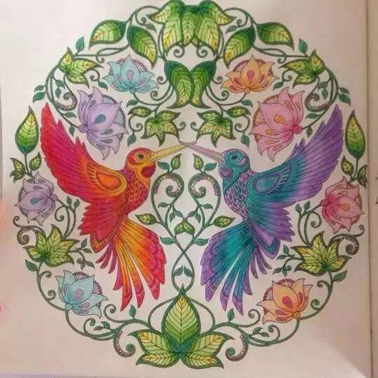 Wholesale 2015 New Arrive Hand Painted Coloring Book Secret Garden