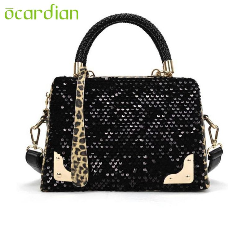 Elegance Hot Women Sequin Leopard Messenger Cross Shoulder Bag Handbag HandBag 17Mar02
