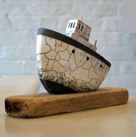 Richard Goodwin Jones - Raku Fishing Boat