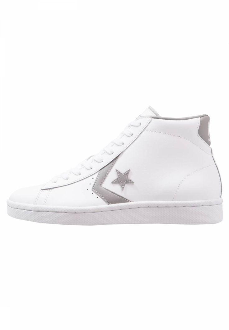 Converse. PL 76 ELEVATED - MID - Sneaker high - white/dolphin. Sohle:Kunststoff. Decksohle:Textil. Innenmaterial:Lederimitat/Textil. Details:Ziernähte. Obermaterial:Leder. Verschluss:Schnürung. Fütterungsdicke:kalt gefüttert. Schuhspitze:rund. Absatzform:flach