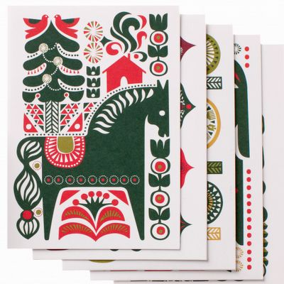 holiday card designs by Marimekko...
