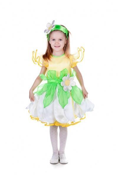 Новогодний костюм ромашки для девочки