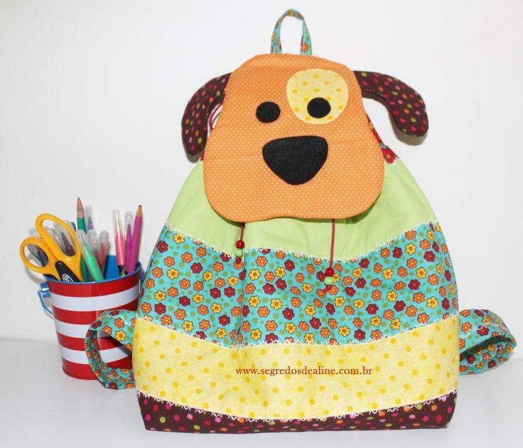 Bolsa De Tecido Pinterest : Segredos de aline mochila infantil patchwork