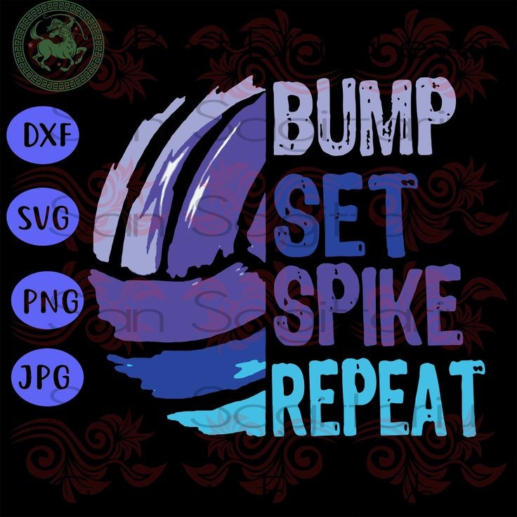 Volleyball Bump Set Spike Repeat Funny Gift, Volleyball