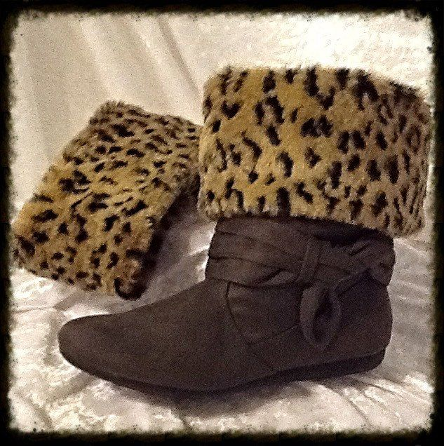 Tan and Brown Lynx Faux Fur Boot Cuffs by unexpectedart on Etsy https://www.etsy.com/listing/216239505/tan-and-brown-lynx-faux-fur-boot-cuffs